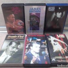 Vídeos y DVD Musicales: LOTE 6 VIDEOS VHS, U2, THE BLOW MONKEIS, ALEXANDER O'NEAL, JAMES BROWN, JANET JACKSON'S,BOBBY BROWN.. Lote 245123550