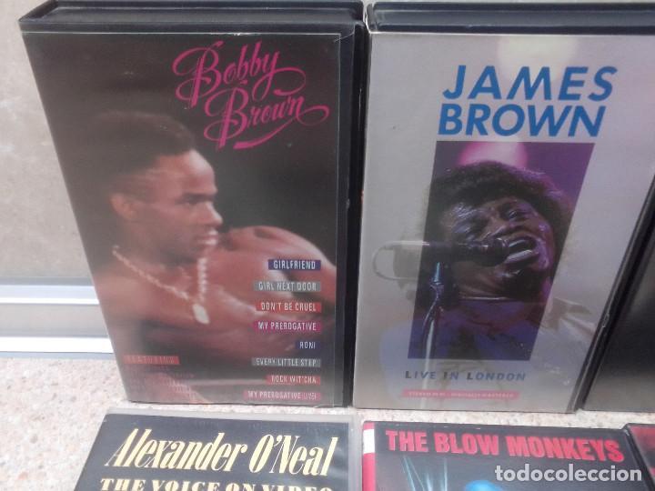 Vídeos y DVD Musicales: LOTE 6 VIDEOS VHS, U2, THE BLOW MONKEIS, ALEXANDER ONEAL, JAMES BROWN, JANET JACKSONS,BOBBY BROWN. - Foto 2 - 245123550