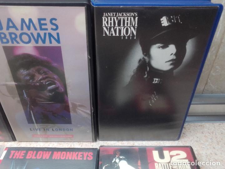 Vídeos y DVD Musicales: LOTE 6 VIDEOS VHS, U2, THE BLOW MONKEIS, ALEXANDER ONEAL, JAMES BROWN, JANET JACKSONS,BOBBY BROWN. - Foto 3 - 245123550