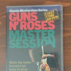 Vídeos y DVD Musicales: GUNS N' ROSES MASTER SESSION DVD. Lote 245779925