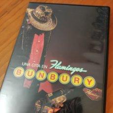 Vídeos y DVD Musicales: DVD BUNBURY. UNA CITA EN FLAMINGOS. Lote 246974010