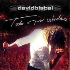 Vídeos y DVD Musicales: DAVID BISBAL TODO POR USTEDES - PACK CON 2 DVDS + UN CD COMO NUEVOS. Lote 247113560