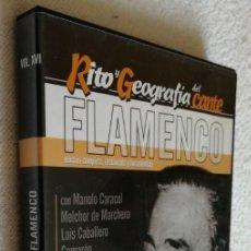 Vídeos y DVD Musicales: RITO Y GEOGRAFÍA DEL CANTE, V. XVI, CAMARÓN, CARACOL, LEBRIJANO, UTRERA.... Lote 252415790