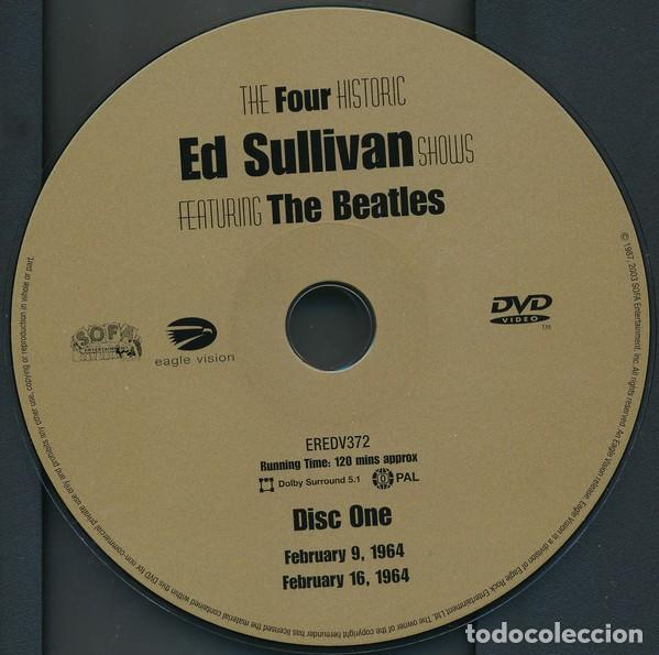 Vídeos y DVD Musicales: THE FOUR COMPLETE HISTORIC ED SULLIVAN SHOWS 240 mt DVD x 2 THE BEATLES - Foto 3 - 253569235