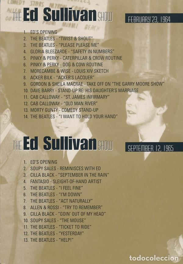 Vídeos y DVD Musicales: THE FOUR COMPLETE HISTORIC ED SULLIVAN SHOWS 240 mt DVD x 2 THE BEATLES - Foto 4 - 253569235