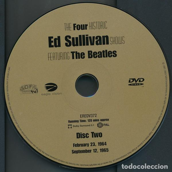 Vídeos y DVD Musicales: THE FOUR COMPLETE HISTORIC ED SULLIVAN SHOWS 240 mt DVD x 2 THE BEATLES - Foto 5 - 253569235