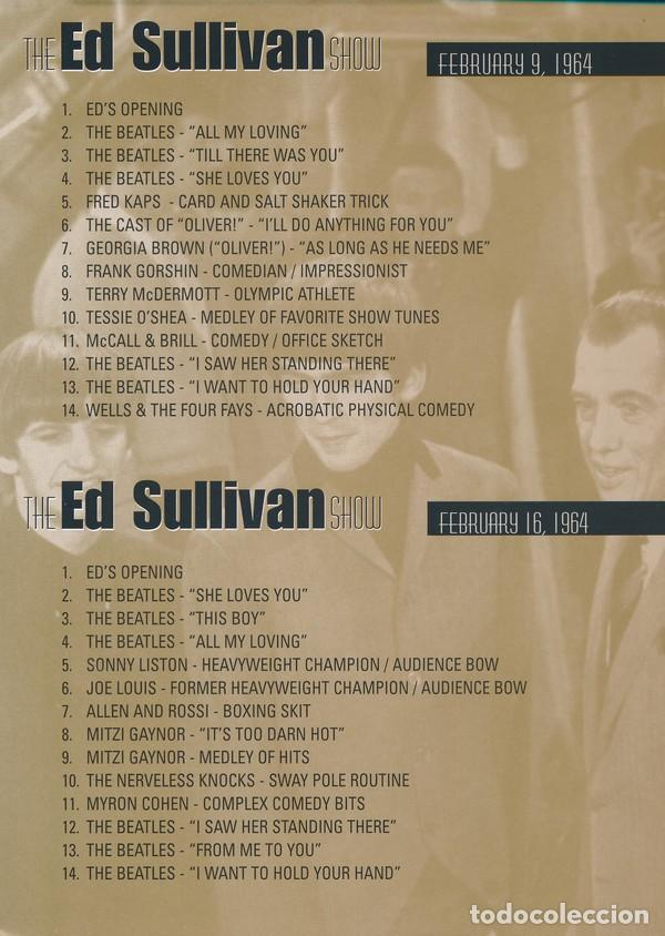Vídeos y DVD Musicales: THE FOUR COMPLETE HISTORIC ED SULLIVAN SHOWS 240 mt DVD x 2 THE BEATLES - Foto 6 - 253569235