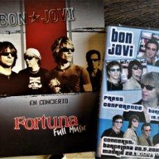 """Vídeos e DVD Musicais: BON JOVI RECUERDOS DE LA GIRA """"BOUNCE"""". LIBRETA DE LA RUEDA DE PRENSA Y VIDEO. Lote 254705385"""