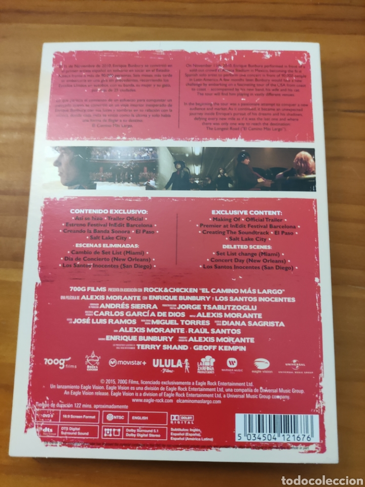 Vídeos y DVD Musicales: Dvd Bunbury. El camino más largo. Alexis Morante - Foto 2 - 257316205