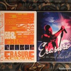 Vídeos y DVD Musicales: ERASURE LOTE 2 DVD CONCIERTOS. Lote 257318195