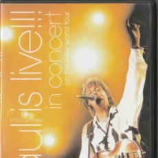 Vídeos y DVD Musicales: DVD PAUL MACCARTNEY - PAUL IS LIVE!!! - IN CONCERT - ON THE NEW WORLD TOUR. Lote 257410705