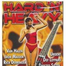 Vídeos y DVD Musicales: HARD `N` HEAVY - DVD CON 22 VIDEOS DE MAIDEN, ACCEPT, VAN HALEN, DEF LEPPARD, DIO, TWISTED SISTERS... Lote 259907170