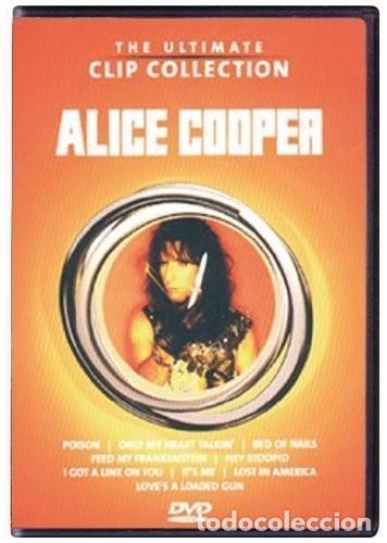 ALICE COOPER THE ULTIMATE CLIP COLLECTION - DVD COMO NUEVO (Música - Videos y DVD Musicales)