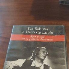 Vídeos y DVD Musicales: DE SABICAS A PACO DE LUCIA - AYER Y HOY DE LA GUITARRA FLAMENCA (RBA) - DVD NUEVO. Lote 260569225