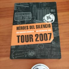 Video e DVD Musicali: HÉROES DEL SILENCIO. TOUR 2007. DOBLE DVD + CHAPA GRANDE. Lote 260801230