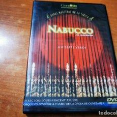 Vídeos y DVD Musicales: NABUCCO EN CONCIERTO GIUSEPPE VERDI DVD 2003 ESPAÑA OBRAS MAESTRAS DE LA LIRICA LOUIS-VINCENT BRUERE. Lote 261259670