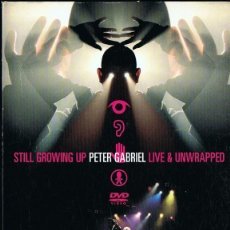 Vídeos y DVD Musicales: PETER GABRIEL ¨STILL GROWING UP LIVE & UNWRAPPED¨. Lote 261547705