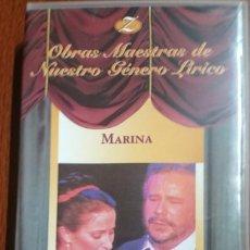 Vídeos y DVD Musicales: MARINA - ZARZUELA - VHS. Lote 262823410