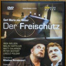 Vídeos y DVD Musicales: DER FREISCHÜTZ - CARL MARIA VON WEBER / NIKOLAUS HARNONCOURT. Lote 262879915