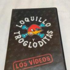 Vídeos y DVD Musicales: LOQUILLO Y TROGLODITAS - LOS VIDEOS - VHS DIFÍCIL DE CONSEGUIR , HISPAVOX 1998. Lote 266507123