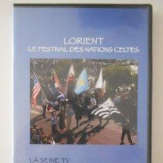 Vídeos e DVD Musicais: LORIENT. LE FESTIVAL DES NATIONS CELTES. DVD. AÑO 2006. COLOR. 80 MINUTOS. MUSICA CELTA EN DIRECTO.. Lote 268411859