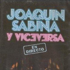 Video e DVD Musicali: JOAQUIN SABINA Y VICEVERSA EN DIRECTO. DVD-7899. Lote 269960258