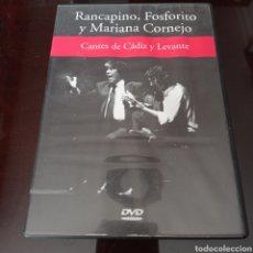 Vídeos y DVD Musicales: DVD CANTES DE CADIZ Y LEVANTE , RANCAPINO ,FOSGORITO Y MARIANA CORNEJO. Lote 270960463