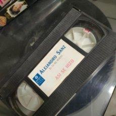 Vídeos y DVD Musicales: ALEJANDRO SANZ. SI TU ME MIRAS. VHS. Lote 271388198