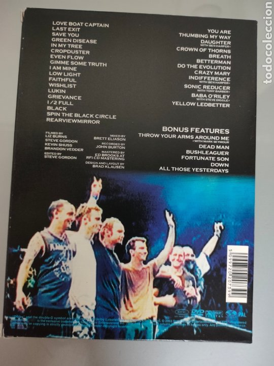Vídeos y DVD Musicales: DVD DOBLE PEARL JAM LIVE AT THE GARDEN 2003 - Foto 3 - 275272008