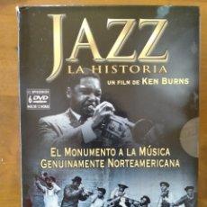 Vídeos y DVD Musicales: COLECCIÓN 6 DVDS JAZZ LA HISTORIA, KEN BURNS. Lote 277518143