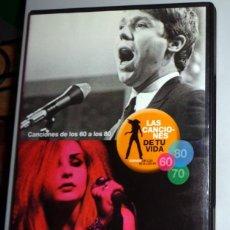 Vídeos y DVD Musicales: DVD MÚSICA LAS CANCIONES DE TU VIDA ESPAÑA DE LOS 60 A LOS 80 - JOSE MARÍA IÑIGO - ALASKA MECANO TVE. Lote 277652043