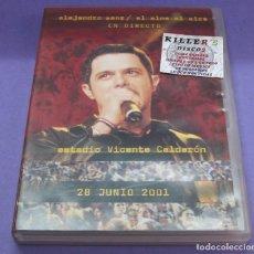 Vídeos y DVD Musicales: ALEJANDRO SANZ - EL ALMA AL AIRE EN DIRECTO [ALEMANIA] [DVD]. Lote 277708823