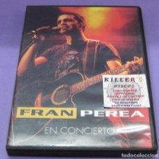 Vídeos y DVD Musicales: FRAN PEREA EN CONCIERTO - DVD. Lote 277712983