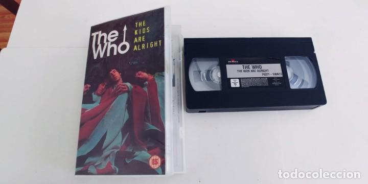 THE WHO-VHS THE KIDS ARE ALRIGHT-95 MIN (Música - Videos y DVD Musicales)