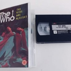 Vídeos y DVD Musicales: THE WHO-VHS THE KIDS ARE ALRIGHT-95 MIN. Lote 279510048