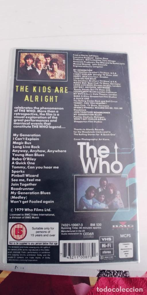 Vídeos y DVD Musicales: THE WHO-VHS THE KIDS ARE ALRIGHT-95 MIN - Foto 2 - 279510048