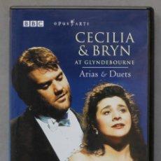 Vídeos y DVD Musicales: DVD. CECILIA & BRYN. ARIAS & DUETS. TERFEL. BARTOLI. Lote 285315503