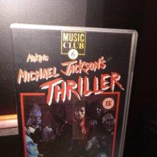 Vídeos y DVD Musicales: THRILLER VHS EDICIÓN AMERICANA. Lote 285486878