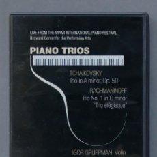 Vídeos y DVD Musicales: DVD. TCHAIKOVSKY. RACHMANINOFF. PIANO TRIOS. Lote 285618443