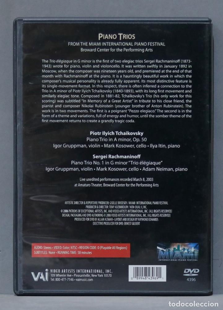 Vídeos y DVD Musicales: DVD. Tchaikovsky. Rachmaninoff. Piano Trios - Foto 2 - 285618443