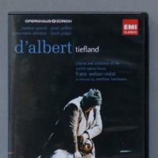 Vídeos y DVD Musicales: DVD. TIEFLAND. D'ALBERT. Lote 285683088