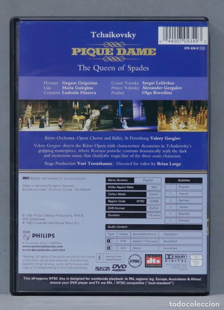 Vídeos y DVD Musicales: DVD. TCHAIKOVSKY. PIQUE DAME - Foto 2 - 285683278