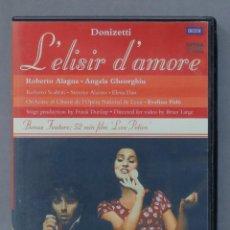 Vídeos y DVD Musicales: DVD. GAETANO DONIZETTI. L'ELISIR D'AMORE. Lote 285685583
