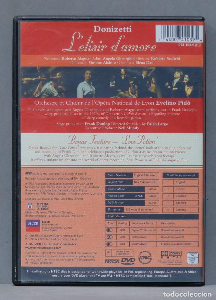 Vídeos y DVD Musicales: DVD. Gaetano Donizetti. LElisir dAmore - Foto 2 - 285685583