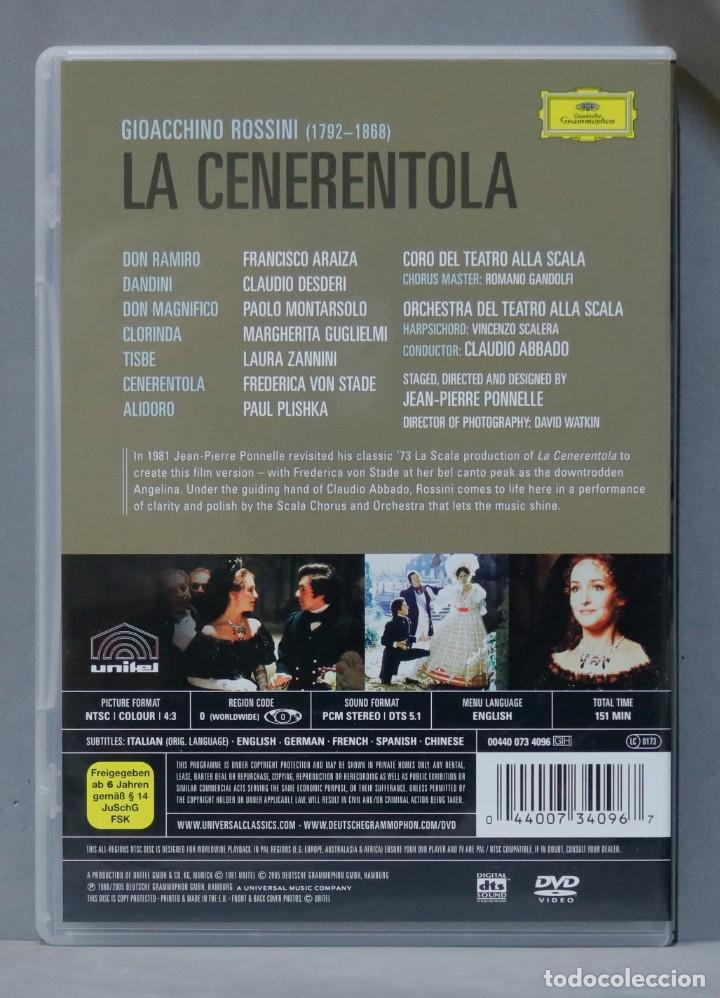 Vídeos y DVD Musicales: DVD. La Cenerentola. ROSSINI - Foto 2 - 285686618