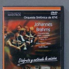 Vídeos y DVD Musicales: DVD. JOHANNES BRAHAMS. ORQUESTA SINFONICA DE RTVE. LOPEZ COBOS. Lote 285686943