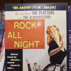 Vídeos y DVD Musicales: DVD, ROCK ALL NIGHT (1957) ROGER CORMAN, THE PLATTERS, BLOCKBUSTERS ETC... ROCKNROLL ROCKABILLY. Lote 288164163