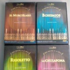 Vídeos y DVD Musicales: COLECCIÓN 8 DVD OBRAS MAESTRAS DE LA LÍRICA, CINCO DÍAS. Lote 293245733