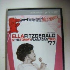 Vídeos y DVD Musicales: D.V.D.LOS GRANDE DEL JAZZ ELLAFITZGERALD THE TOMMY FLANAGANTRIO 77 (&). Lote 294497468
