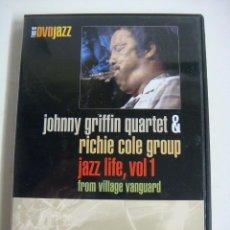 Vídeos y DVD Musicales: D.V.D. DE JAZZ JOHNNY GRIFFIN QUARTET JAZZ LIFE VOL-1 (&). Lote 294501933